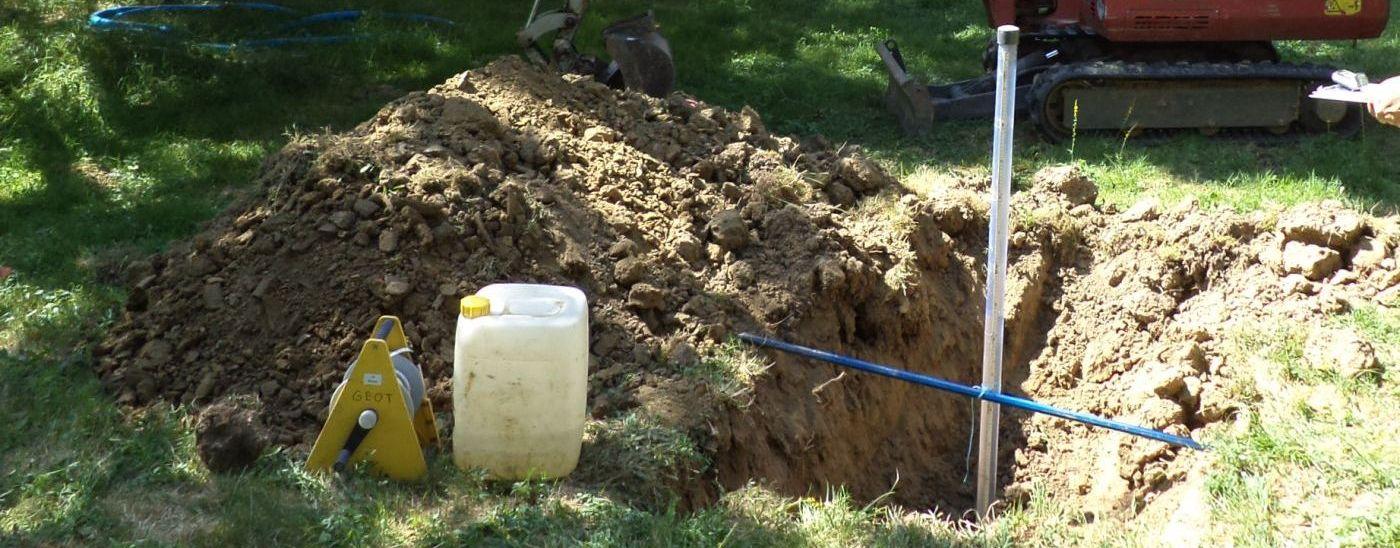 Sonde rossignol et essai de perméabilité des sols
